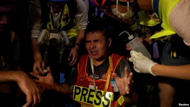 """""""反送中""""运动中的香港记者(2019年9月23日)"""