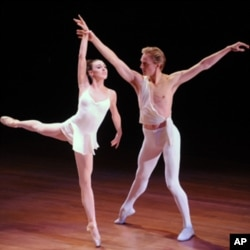 American ballet dancers David Hallberg, right, and Tiler Peck perform at the 2010 World Science Festival opening night gala performance at Alice Tully Hall on Wednesday, June 2, 2010 in New York.
