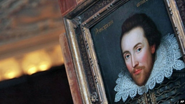 A portrait of William Shakespeare is pictured in London,  painted in 1610 and is believed to be the only surviving picture of William Shakespeare painted in his lifetime (File)
