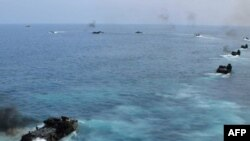 Một cuộc diễn tập của hải quân Hoa Kỳ tại Biển Đông