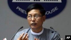 Ông Zaw Htay, người phát ngôn của chính phủ Myanmar.