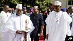 Yahya Jammeh à Banjul, Gambie, le 13 janvier 2017.