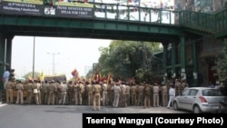 Tibetans Protest Wang Yi's Visit in India