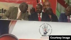 Vachamirira mubatanidzwa weMDC Alliance musarudzo, VaNelson Chamisa