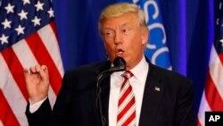 Donald Trump habló en West Bend, Wisconsin, el martes, 16 de agosto de 2016.