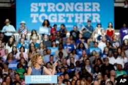 U.S. Rep. Debbie Wasserman Schultz, chairwoman of the Democratic National Committee, speaks during a campaign event for presidential candidate Hillary Clinton at the Florida State Fairgrounds Entertainment Hall in Tampa, July 22, 2016.