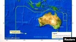 သီတင္း ၃ ပတ္ၾကာ ေပ်ာက္ေနဆဲ မေလးရွားေလေၾကာင္းလိုင္း MH370 ကို ရွာေဖြေနတဲ့ ဧရိယာအက်ယ္အဝန္းျပ ေျမပံု။