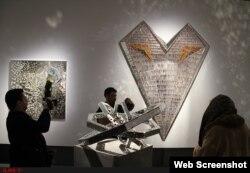 گوشهای از چیدمان آثار در تالار دائمی منیر فرمانفرمائیان در مجموعه «نگارستان» دانشگاه تهران ILNA photo