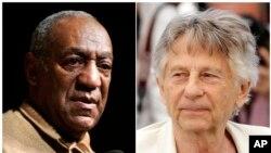 En esta foto combinada, el actor Bill Cosby (izquierda) y el director Roman Polanski. Ambos fueron expulsados de la Academia de Cine de EE.UU. por delitos sexuales.