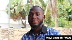 Didier Kissode à Lomé, le 6 mars 2019. (VOA/Kayi Lawson)