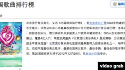 百科名片中国歌曲排行榜截频