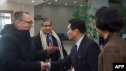Ông Jeffrey Feltman, Phó Tổng Thư ký LHQ đến Bình Nhưỡng, ngày 5/12/2017.