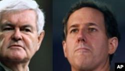 Các ứng cử viên tổng thống của đảng Cộng hòa (từ trái): Cựu Thống đốc bang Massachusetts Mitt Romney, dân biểu Ron Paul, Cựu Chủ tịch Hạ Viện Newt Gingrich, cựu Thượng nghị sĩ Rick Santorum