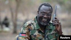 Riek Machar, chef des rebelles en février 2014.