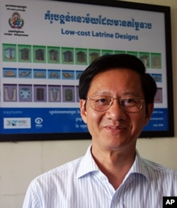 Dr Chea Samnang heads the department of rural health at the Ministry of Rural Development. The government wants 30 percent of rural households to have access to a latrine by 2015, and 100 percent by 2025. Dr Chea says that target is currently on track.