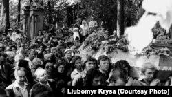 Похорон Володимира Івасюка перетворився у масову акцію