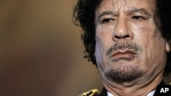 利比亚前领导人卡扎菲(资料照)
