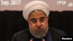 유엔총회 참석 차 뉴욕을 방문 중인 하산 로하니 이란 대통령이 20일 기자회견을 열었다.