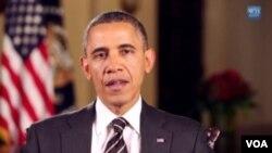 ປະທານາທິບໍດີ ສະຫະລັດ ທ່ານ Barack Obama ໄດ້ໃຊ້ຄໍາ ປາໄສຕໍ່ປະເທດຊາດ ປະຈໍາສັບປະດາຂອງທ່ານ ໃນວັນເສົາມື້ ນີ້