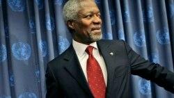 DUNIA Keleya tomba U.N. ka tchie den Kofi Annan leaves faroura sebiri do, ka chi to san bicheki la.