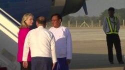 Hillary Clinton Arrives in Burma