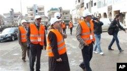 시리아에서 활동 중인 아랍연맹 감시단