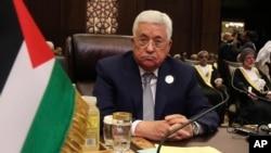 ປະທານາທິບໍດີິ ປາແລັສໄຕນ ທ່ານ Mahmoud Abbas ເຂົ້າຮ່ວມກອງປະຊຸມສຸດຍອດຂອງ ສັນນິບາດອາຣັບ ທີ່ທະເລເດດຊີ, ປະເທດ ຈໍແດນ. 29 ມີນາ, 2017.