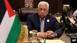 ປະທານາທິບໍດີປາແລັສໄຕນ໌ ທ່ານ Mahmoud Abbas ເຂົ້ົາຮ່ວມ ກອງປະຊຸມສຸດຍອດ ຂອງສັນນິບາດຊາດອາຣັບ ຢູ່ Dead Sea ປະເທດຈໍແດນ, ວັນທີ 29 ກຸມພາ 2017.