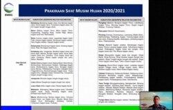 Prakiraan Sifat Musim Hujan 2020/2021 di atas normal di 19 Kabupaten dan satu kota di Provinsi Sulawesi Selatan, Minggu (22/11). (Foto: VOA/Yoanes Litha)