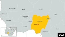 Bản đồ Bama, Nigeria.