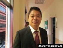 台湾在野党民进党立委蔡煌琅 (美国之音张永泰拍摄 )