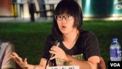 香港支聯會副主席鄒幸彤 (美國之音特約記者 湯惠芸拍攝)