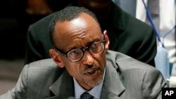 卢旺达总统卡加梅(资料照片)
