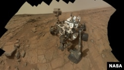 This self-portrait of NASA's Mars rover Curiosity combines 66 exposures taken by the rover's Mars Hand Lens Imager during the 177th Martian day, or sol, of Curiosity's work on Mars. (Feb. 3, 2013)