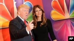 دانالد ترامپ و همسرش در شوی Celebrity Apprentice سال ۲۰۱۲