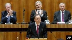 Генеральний секретар ООН Пан Гі Мун у нижній палаті австрійського парламенту у Відні