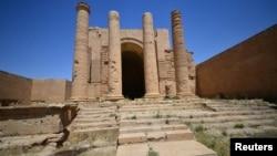 Kota kuno Hatra, di selatan Mosul, Irak (foto: 27/4).