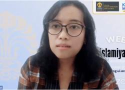 Dr Amanah Nurish, Dosen Prodi Kajian Terorisme UI dalam tangkapan layar. (Foto: VOA/Nurhadi)