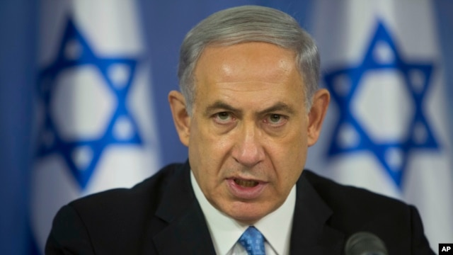 In an address in Tel Aviv, Prime Minister Benjamin Netanyahu warns Hamas will 'pay an intolerable price' if it continues firing rockets at Israel, on Aug 2, 2014.