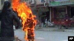 Hình ảnh của một trong 120 người Tây Tạng tự thiêu