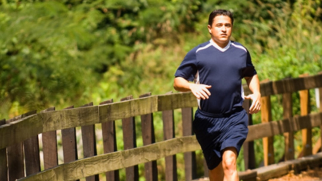 Image result for average man running