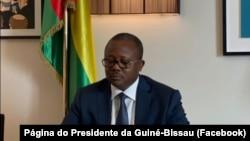 Umaro Sissoco Embaló, Presidente da Guiné-Bissau, participa em cimeira virtual da CEDEAO sobre a Guiné-Bissau, 8 de Setembro de 2021