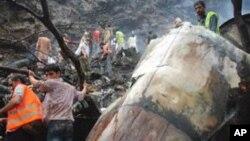 هلاکت دوازده تن در نتیجۀ سقوط طیاره در پاکستان