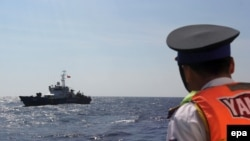 越南海防人員在巡邏南中國海 (資料圖片)