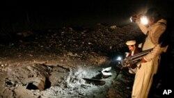 دھماکوں کے بعد سرنگ کے اندر کا منظر