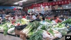 北京的零售菜市