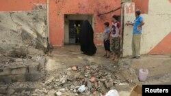 지난 20일 이라크 서부 라마디에서 발생한 폭탄 테러 현장.