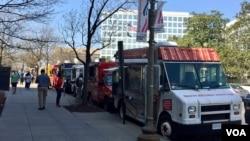 华盛顿街头的餐车(资料照)