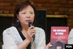 中国妇权组织发起人之一的张菁(美国之音国符拍摄)