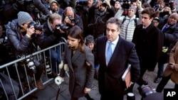 El abogado Michael Cohen, que trabajó para el presidente Donald Trump, fue sentenciado a tres años de cárcel el miércoles 12 de diciembre de 2018 por pagos secretos y por mentir al Congreso de EE.UU.